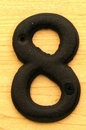 IWGAC 0184J-13021-8 Solid Cast Iron Number 8