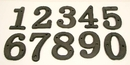 IWGAC 0184J-13021 Solid Cast Iron Number 0 - 9 Set 10