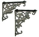 IWGAC 0184J-9199 Cast Iron Grape Corner/shelf Brackets Set of 2