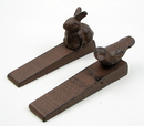 IWGAC 0184S-02054A Bird & Rabbit Cast Iron Door Stop