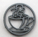 IWGAC 0184S-0729 Cast Iron Coffee Cup Trivet