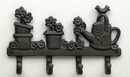 IWGAC 0184S-0805 Cast Iron Flower/Watering Can w/4 Hooks