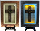 IWGAC 0193-0774 Spiritual Harvest Vine Cross Lighted Shadow Box