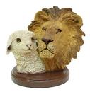 IWGAC 0193-73023 Living Stone Lion with Lamb Bust
