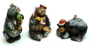 IWGAC 0197-242921 Woodland Bear Ornaments Set of Three