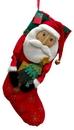 IWGAC 0197-244149S Santa Fabric Stocking