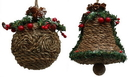 IWGAC 0197-250885 Jute-look Ball Ornament Set of Two