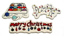 IWGAC 0197-252476 Merry Christmas Ceramic Ornaments Set of Three