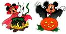 IWGAC 0197-92209057B Disney Mickey and Minnie Halloween Window Jelz Set of 2