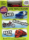 IWGAC 0198-552588 All About Cars-Motorcycles-Trains DVD w Collectible Toy
