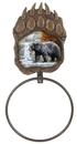 IWGAC 021-12799 Bear Scene Paw Print Towel Ring
