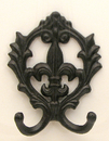 IWGAC 021-22204 Scroll Fleur De Lis Double Hook