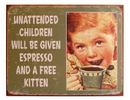 IWGAC 034-1557 Tin Sign Unattended Child