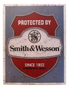 IWGAC 034-1682 Tin Sign Smith & Wesson Protected
