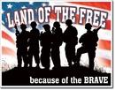 IWGAC 034-1818 TIN SIGN Land of the Free