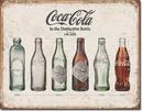 IWGAC 034-1839 TIN SIGN COKE - Bottle Evolution