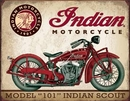 IWGAC 034-1933 Tin Sign - Indian Scout