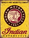 IWGAC 034-1934 Tin Sign Indian Motorcycles Since 1901