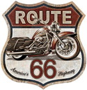 IWGAC 034-2415 Tin Sign - Route 66 Bike