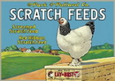 IWGAC 034-931 Tin Sign Scratch Feeds