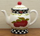IWGAC 049-10913 Ceramic Apple Teapot