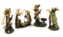 IWGAC 049-12084 Comical Deer Hunter Ornaments 4 Assorted Priced Each