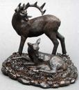 IWGAC 049-14092 Resin Deer Family