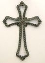 IWGAC 049-16971 Cast Iron Open Cross in Verdigris