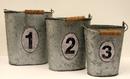 IWGAC 049-17917 Metal Buckets 3 PC Set