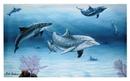 IWGAC 049-30353 Dolphin Family Canvas Wall Plaque