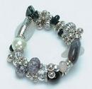 IWGAC 049-40061 Silver Tone & Beads Bracelet