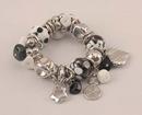 IWGAC 049-40495 Black and White Beads Bracelet