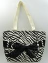 IWGAC 049-43066 Zebra Print Straw Bag