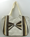 IWGAC 049-43068 Brown Stripe Straw Bag