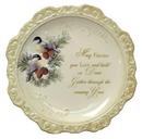 IWGAC 049-60028 Elegant Ceramic Decorative Plate 'May Friends You Love'
