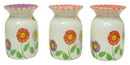 IWGAC 049-69108 Ceramic Flower Tart Warmer in Three Styles, Price Each