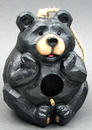 IWGAC 049-75052 Resin Black Bear Bird House