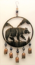 IWGAC 049-78527 Bear Cut Out Wind Chime