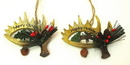 IWGAC 049-90403 Resin Antler Ornaments Set of Two