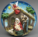 IWGAC 049-95527 Nativity Scene Plate LED