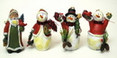 IWGAC 049-98264 Resin Santa/Snowman Ornaments Set of Four