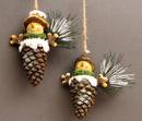 IWGAC 049-98286 Pinecone Ornaments set/2