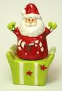 IWGAC 049-99572 Ceramic Santa/Gift Box Salt & Pepper Set