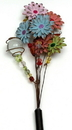 IWGAC 049-NY4 Glow In The Dark Flower Garden Stake - Assorted Styles
