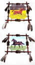 IWGAC 066-1986B Mandala - Realistic Horse Paintings Set of 2
