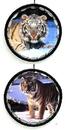IWGAC 066-1993B Yellow Tiger Mandala Set of 2