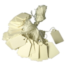IWGAC 071-93165 White Retail Tags W String Tie - MEDIUM