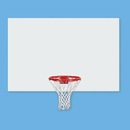 Jaypro Rectangular Steel Basketball Backboard