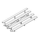 Jaypro Four Row 15' All Aluminum Bleacher
