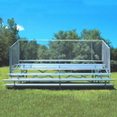 Jaypro Five Row 15' Bleacher with Chain Link